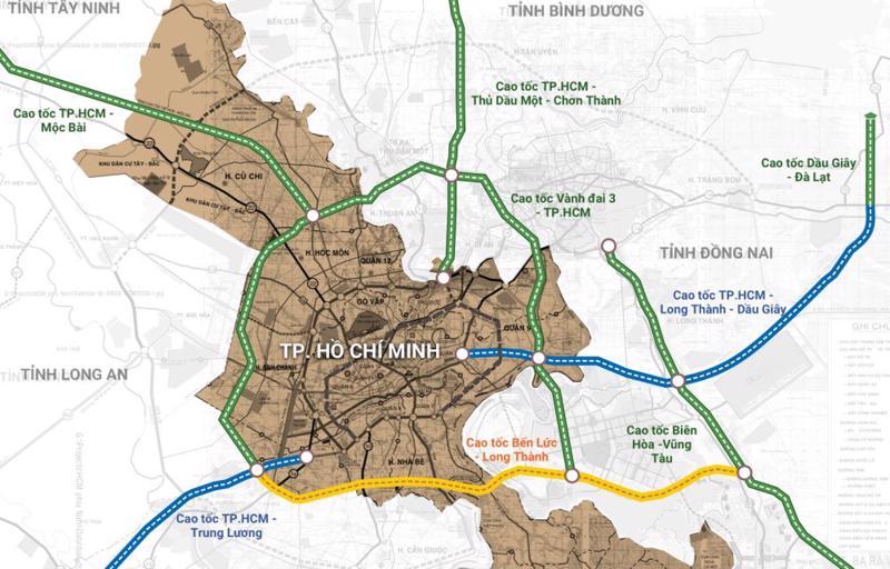 8 tuyến đường cao tốc nối TP.HCM và các tỉnh.