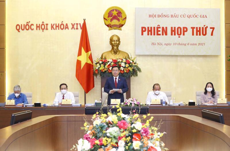 Phiên họp thứ 7 Hội đồng Bầu cử quốc gia - Ảnh: VGP/Lê Sơn