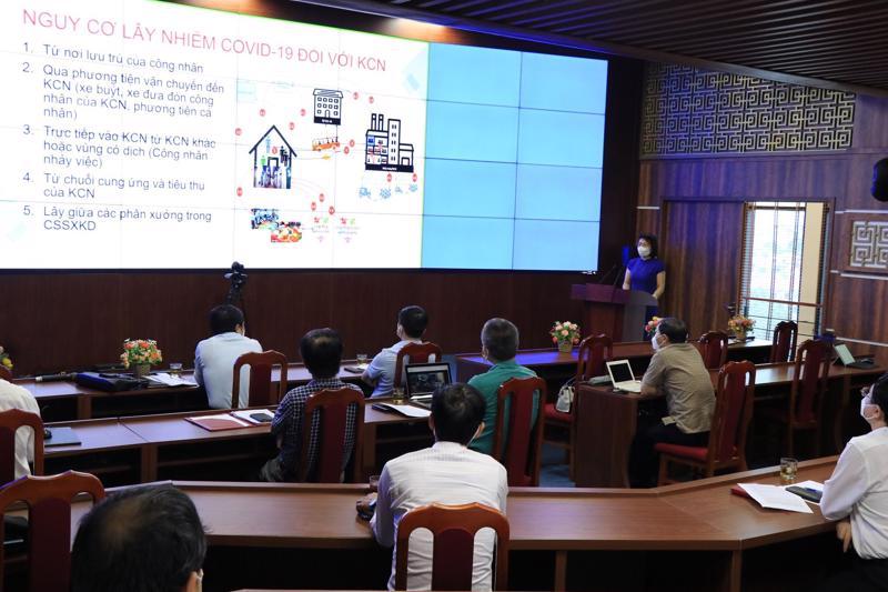 Tập huấn trực tuyến phòng chống dịch Covid-19 cho doanh nghiệp tại khu công nghiệp và cụm công nghiệp của tỉnh Bắc Ninh.