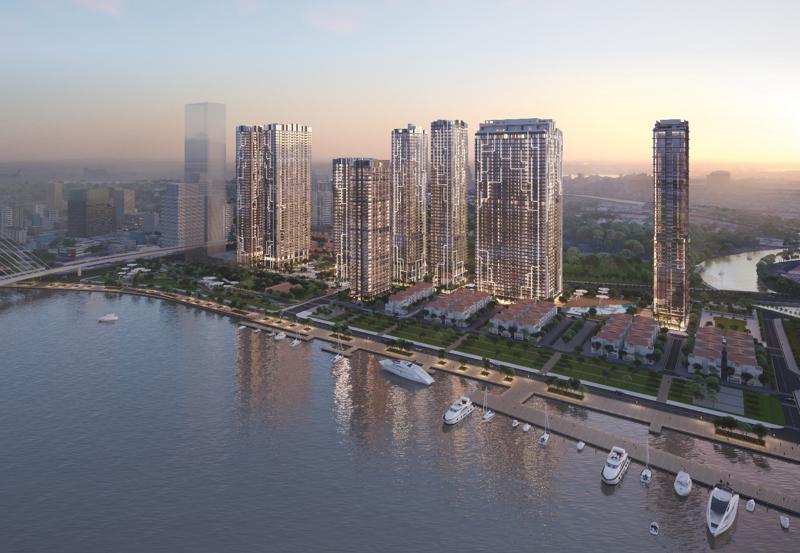 Toàn cảnh quy hoạch tổng thể dự án Grand Marina Saigon.