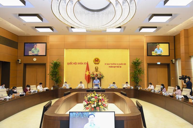 Phiên họp thứ 56 của Uỷ ban Thường vụ Quốc hội - Ảnh: Quochoi.vn