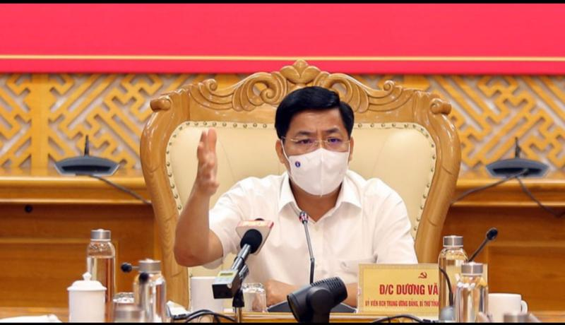 Bí thư Tỉnh ủy Bắc Giang Dương Văn Thái.