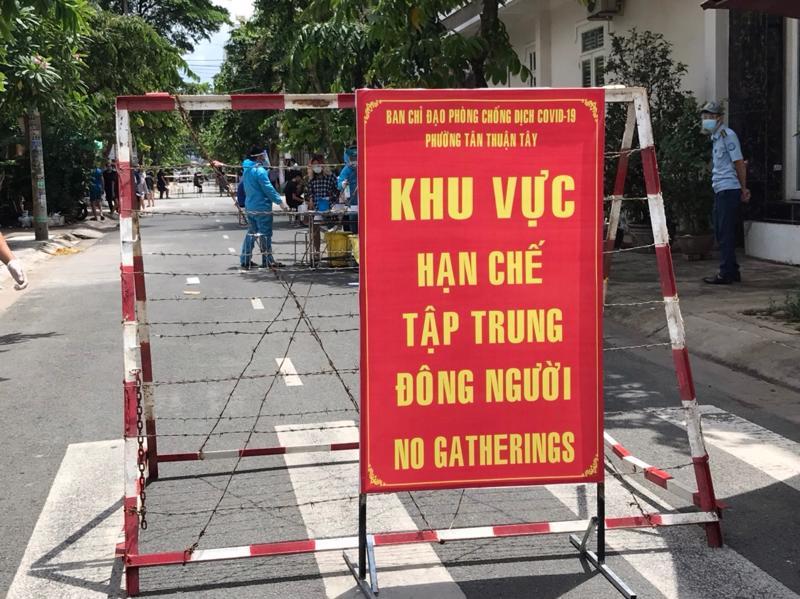 Tạm phong toả khu vực tại phường Tân Thuận Tây (quận 7) vì liên quan đến ca bệnh tại Bệnh viện Bệnh nhiệt đới TP.HCM.