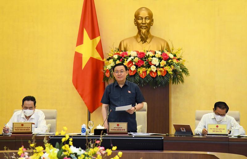 Chủ tịch Quốc hội Vương Đình Huệ phát biểu khai mạc - Ảnh: Quochoi.vn