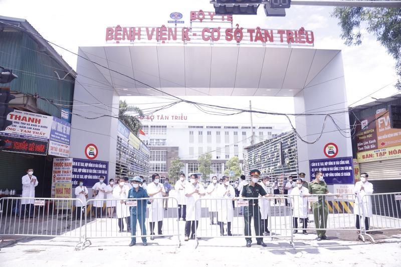Bệnh viện K cơ sở Tân Triều kết thúc thời gian cách ly y tế.