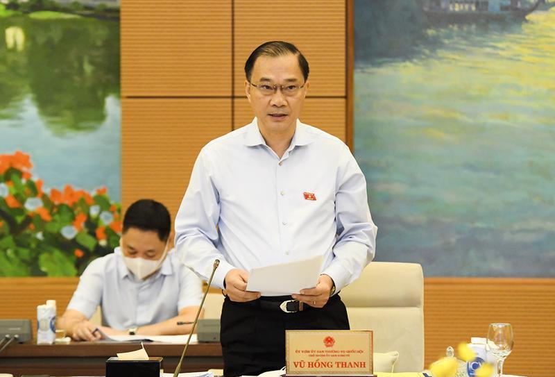 Chủ nhiệm Ủy ban Kinh tế của Quốc hội Vũ Hồng Thanh - Ảnh: Quochoi.vn