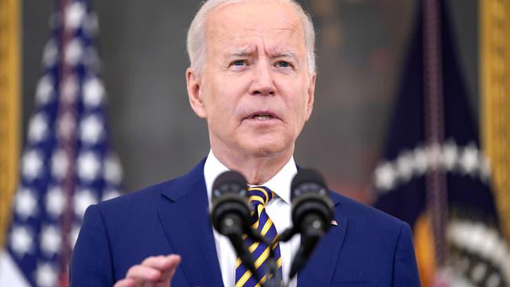 Tổng thống Mỹ Joe Biden trong cuộc họp báo ở Nhà Trắng ngày 18/6 - Ảnh: AP/CNBC.