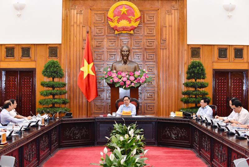 Thủ tướng Phạm Minh Chính tại buổi làm việc với Bộ Ngoại giao - Ảnh: VGP