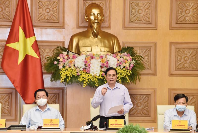 Thủ tướng Chính phủ Phạm Minh Chính phát biểu tại cuộc gặp mặt các cơ quan báo chí ngày 20/6 - Ảnh: VGP.