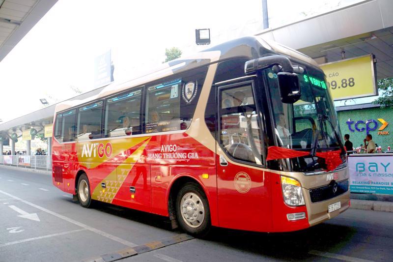 Xe buýt hoạt động tuyến Sân bay Tân Sơn Nhất - Vũng Tàu