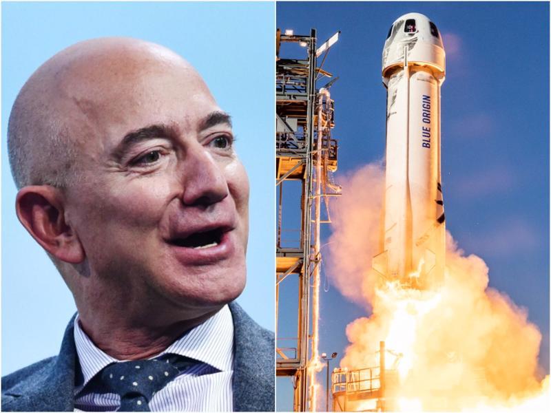 Tỷ phú Jeff Bezos là người sáng lập công ty Blue Origin - Ảnh: BI