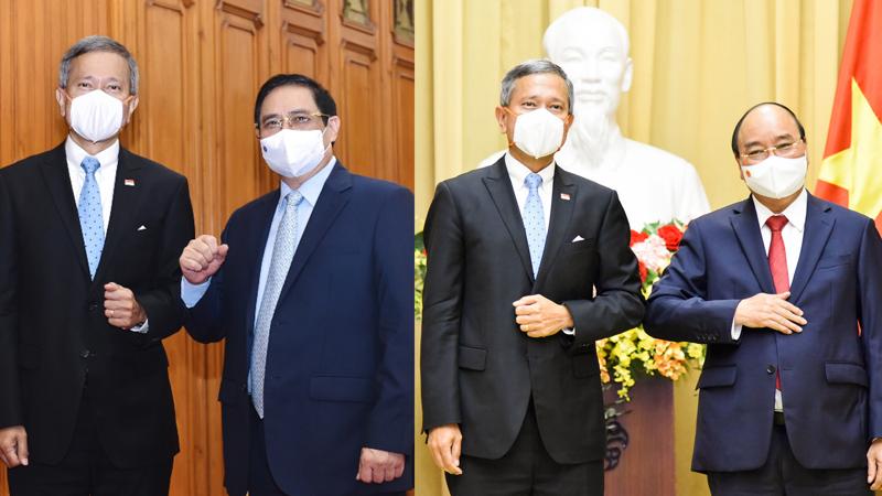 Thủ tướng Chính phủ và Chủ tịch nước tiếp Bộ trưởng Ngoại giao Singapore - Ảnh: Bộ Ngoại giao