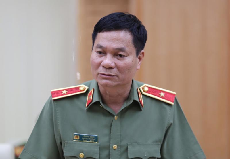 Thiếu tướng Lê Minh Mạnh thông tin về vụ việc tấn công Báo điện tử VOV chiều ngày 21/6.