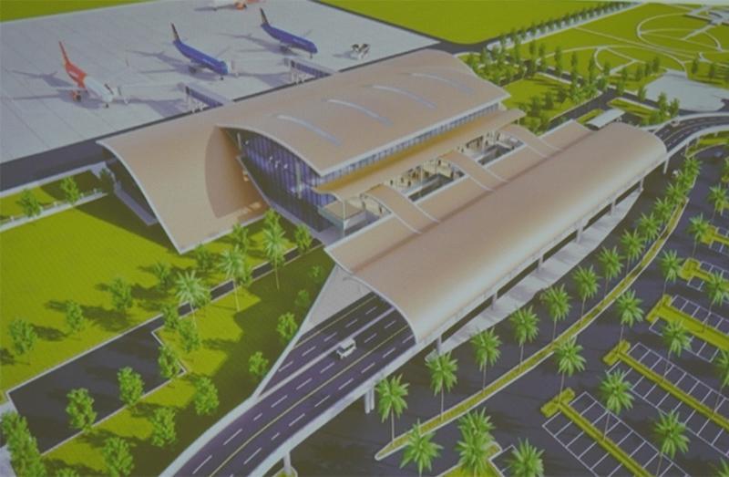 Phối cảnh phương án xây dựng Cảng hàng không Quảng Trị