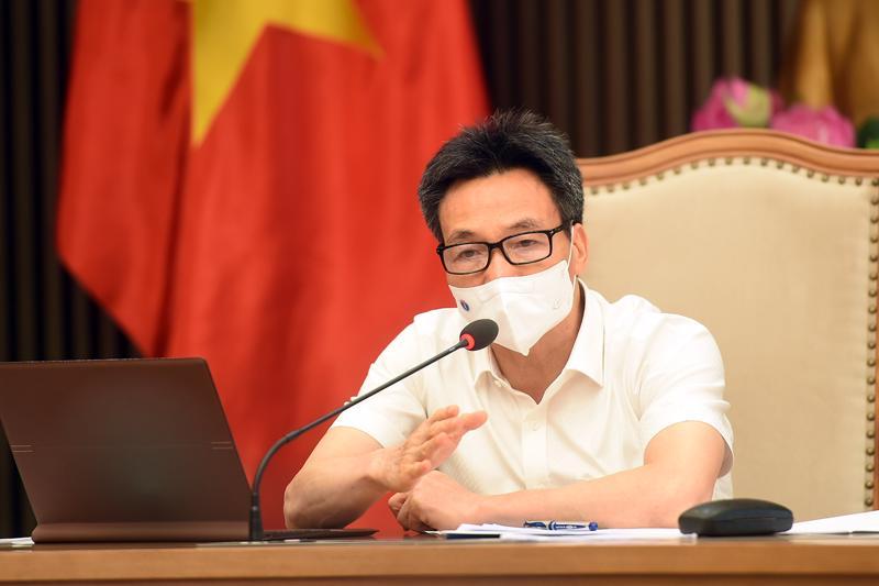 Phó Thủ tướng Vũ Đức Đam chủ trì cuộc họp trực tuyến với tỉnh Bình Dương ngày 23/6. Ảnh - VGP/Đình Nam.
