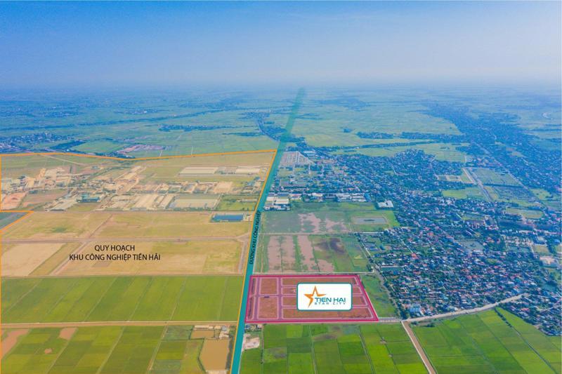 Tiền Hải Star City nằm đối diện khu công nghiệp Tiền Hải mở rộng đang được quy hoạch xây dựng.