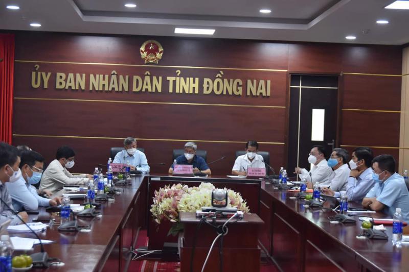 Đoàn công tác Bộ Y tế làm việc cùng Ban Chỉ đạo phòng, chống dịch Covid-19 tỉnh Đồng Nai.
