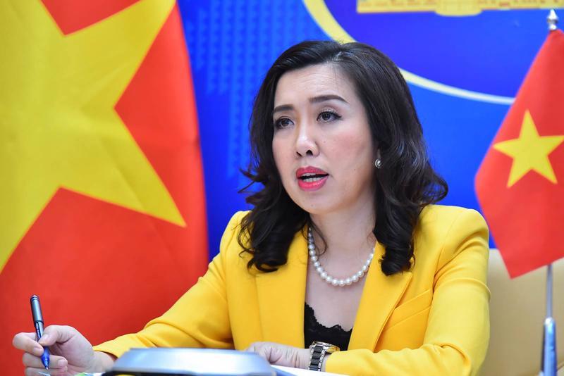 Người phát ngôn Bộ Ngoại giao Lê Thị Thu Hằng tại họp báo ngày 24/6 - Ảnh: Bộ Ngoại giao