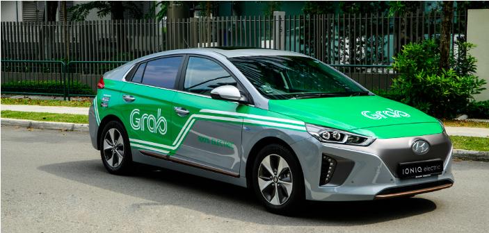 Theo số liệu từ Grab, 31% số xe của họ hiện có trong dịch vụ gọi xe ở Singapore là xe điện hoặc xe xe kết hợp xăng và điện.
