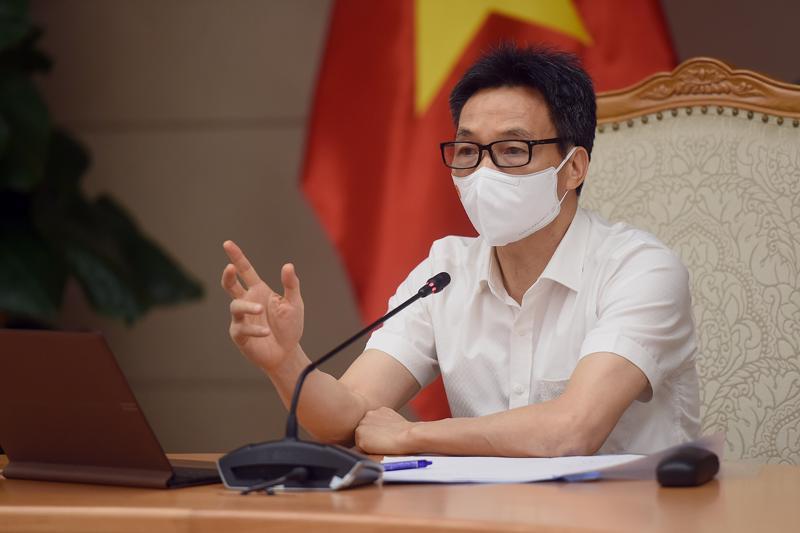 Phó Thủ tướng Vũ Đức Đam chủ trì cuộc họp trực tuyến với tỉnh Đồng Nai ngày 24/6. Ảnh - VGP/Đình Nam.
