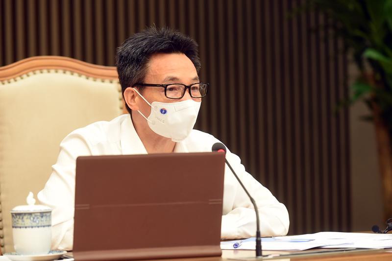 Phó Thủ tướng Vũ Đức Đam chủ trì cuộc họp trực tuyến với tỉnh Tiền Giang ngày 25/6. Ảnh - VGP/Đình Nam.