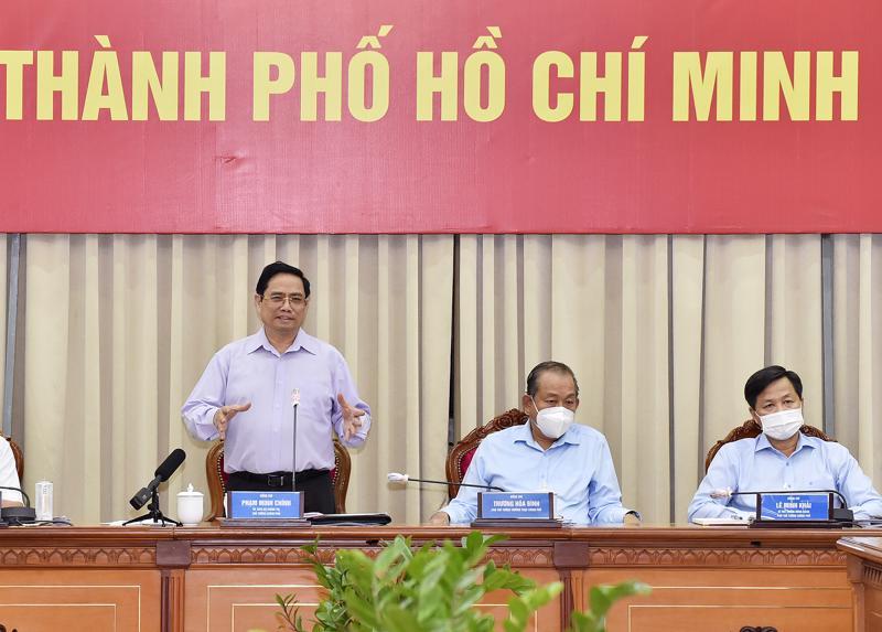 Thủ tướng Phạm Minh Chính họp trực tuyến với TP.HCM và các địa phương lân cận thuộc vùng kinh tế trọng điểm phía Nam.