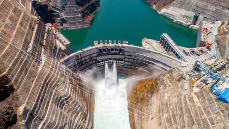 Đập thủy điện Bạch Hạc Than có tổng công suất lớn thứ hai thế giới - Ảnh: Công ty Tam Hiệp Trung Quốc