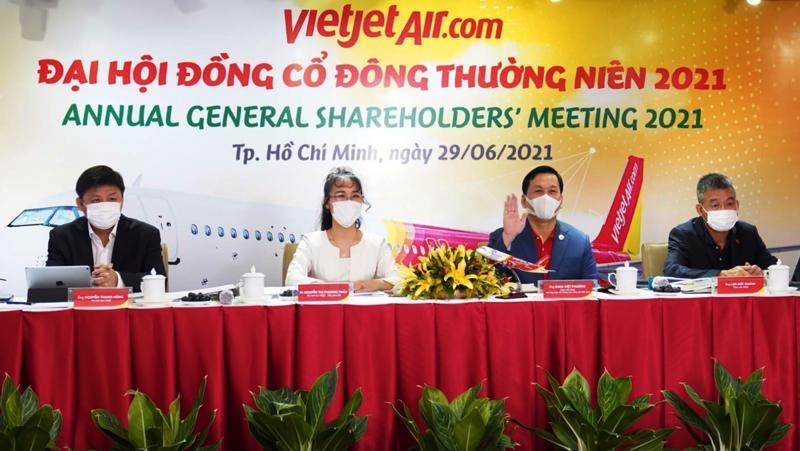 Đại hội cổ đông Công ty Cổ phần Hàng không Vietjet đã thông qua kế hoạch doanh thu hợp nhất năm 2021 tăng 20% so với năm 2020 (ảnh: Hữu Tài).