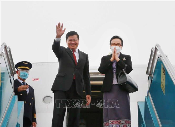 Tổng Bí thư, Chủ tịch nước Lào Thongloun Sisoulith kết thúc chuyến thăm hữu nghị chính thức Việt Nam - Ảnh: TTXVN