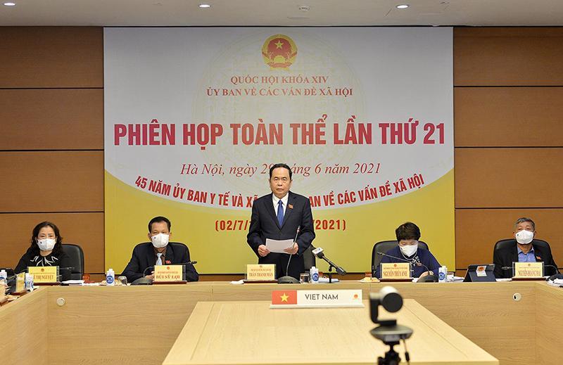 Phó Chủ tịch Thường trực Quốc hội Trần Thanh Mẫn phát biểu chỉ đạo tại phiên họp ngày 29/6 - Ảnh: Quochoi.vn