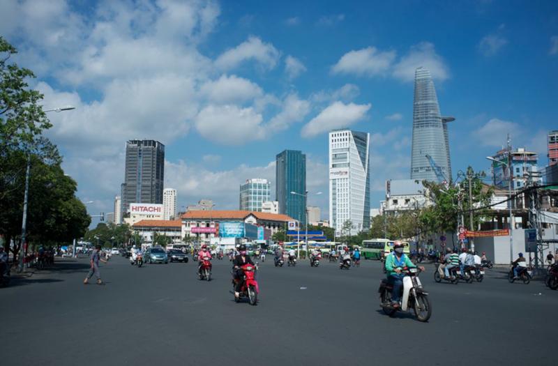 Đường phố Tp.HCM - Ảnh: Bloomberg