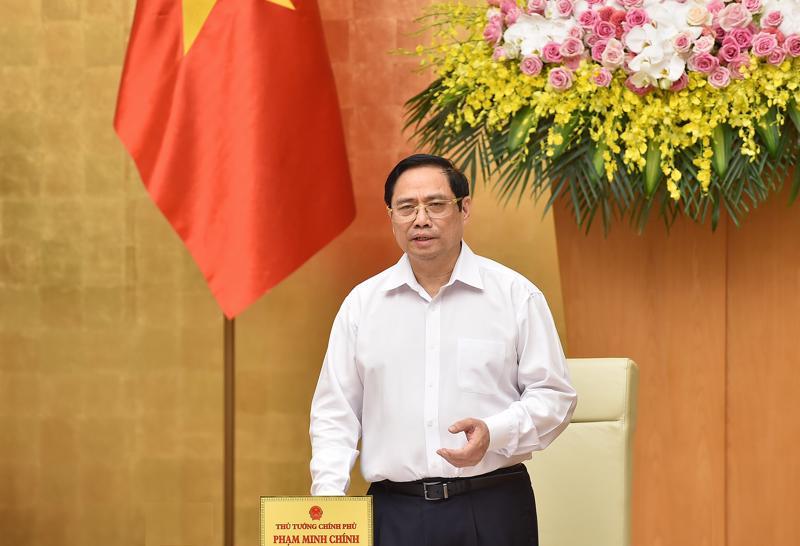 Thủ tướng Phạm Minh Chính tại phiên họp - Ảnh: VGP