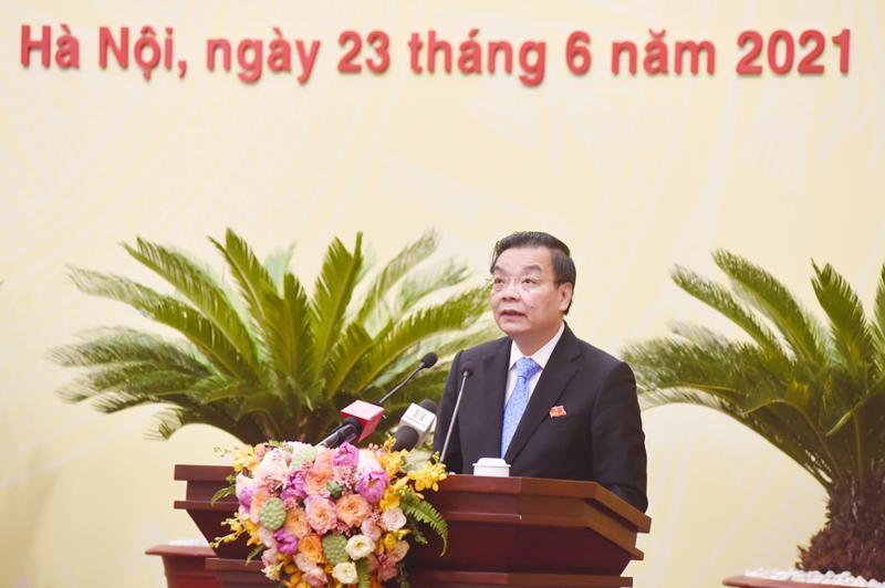 Chủ tịch UBND TP. Hà Nội Chu Ngọc Anh - Ảnh: HNM