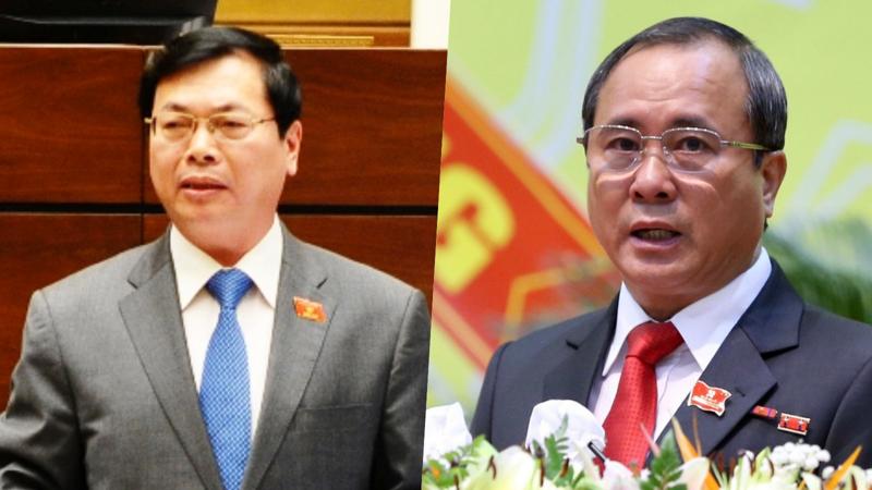 Ông Vũ Huy Hoàng (trái) và ông Trần Văn Nam - Ảnh: VGP