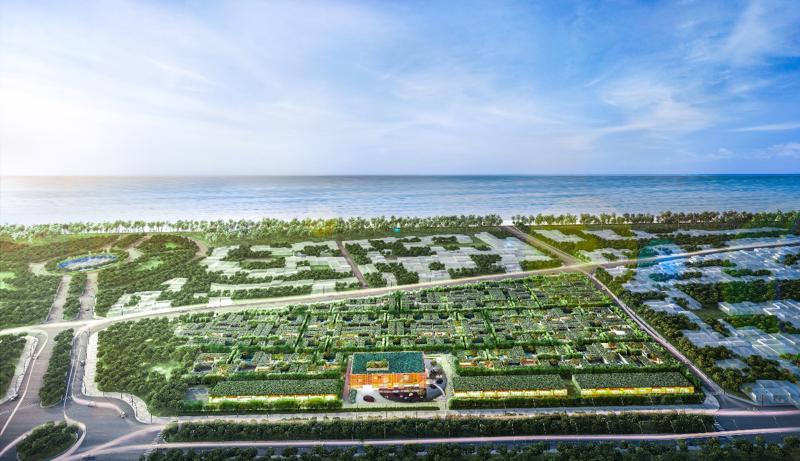 Phối cảnh dự án Wyndham Phú Quốc tựa như một khu vườn xanh tự nhiên giữa lòng đảo Ngọc Phú Quốc.