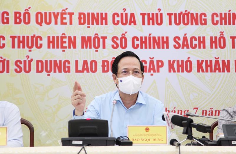 Bộ trưởng Đào Ngọc Dung chủ trìcuộc họp báo chiều ngày 7/7.