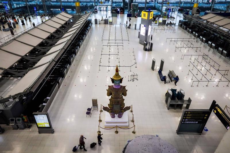 Một góc sân bay quốc tế Suvarnabhumi tại Bangkok, Thái Lan - Ảnh: Getty Images