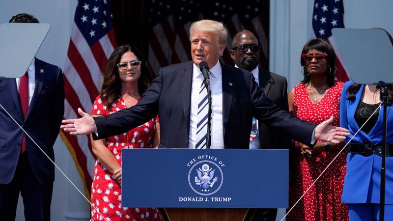 Cựu Tổng thống Donald Trump phát biểu trong họp báo tại Trump National Golf Club ở Bedminster, New Jersey ngày 7/7/2021 - Ảnh: AP