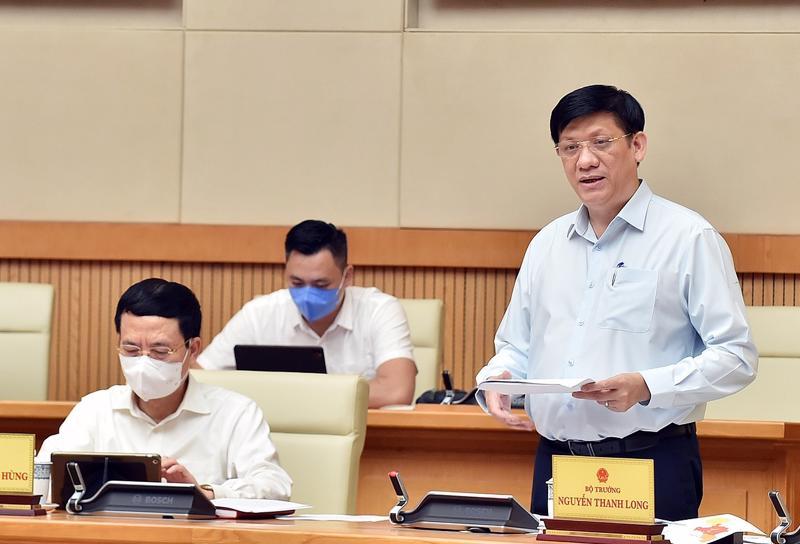 Bộ trưởng Nguyễn Thanh Long phát biểu tại cuộc họp.