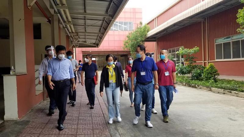 Đoàn kiểm tra Công ty TNHH Worldon Việt Nam, Khu công nghiệp Đông Nam, huyện Củ Chi.