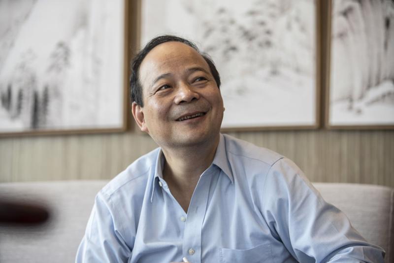 Ông Zeng Yuqun, người sáng lập hãng pin xe điện CATL - Ảnh: Bloomberg