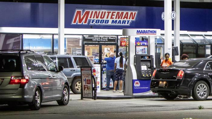 Một trạm bán lẻ xăng ở Mỹ - Ảnh: FT.