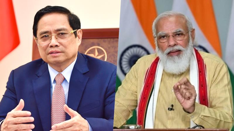 Thủ tướng Phạm Minh Chính (trái) và Thủ tướng Ấn Độ Narendra Modi - Ảnh: Bộ Ngoại giao