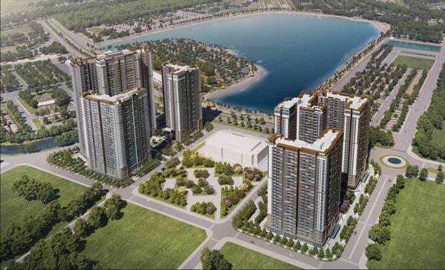 Phối cảnh khu căn hộ cao cấp chuẩn quốc tế Masteri Waterfront.