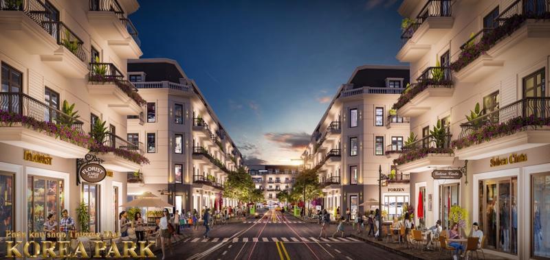 Shop thương mại Korea Park Bắc Ninh là sự kết hợp tinh tế giữa mô hình nhà phố và thương mại, vừa an cư vừa kinh doanh sinh lời.