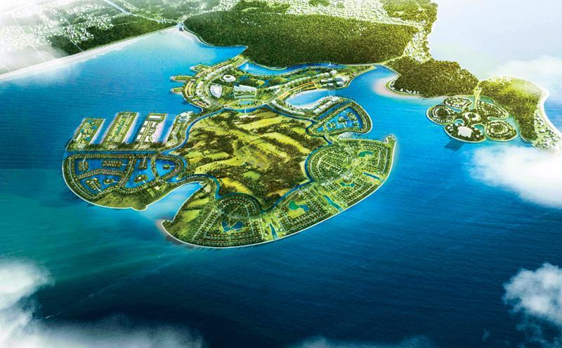 Các hạng mục của dự án Khu du lịch Quốc tế Đồi Rồng, Đồ Sơn. Ảnh: Geleximco.