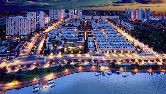 Toàn cảnh khu đô thị Louis City Hoàng Mai đậm chất Pháp bên hồ Yên Sở.