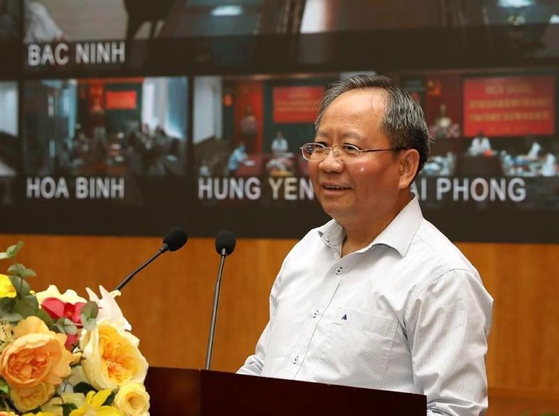 Thứ trưởng Bộ Tài chính Đỗ Hoàng Anh Tuấn phát biểu chỉ đạo hội nghị.