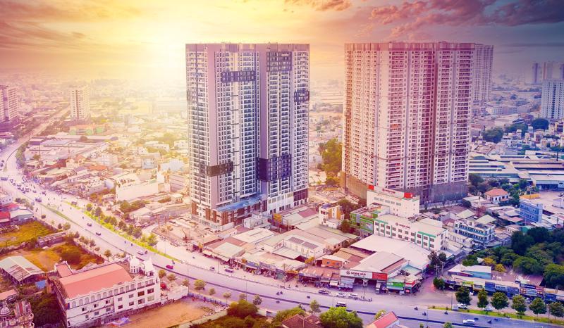 Khu căn hộ Opal Boulevard tại thành phố Dĩ An, Bình Dương gồm 2 tháp 36 tầng với gần 1.500 sản phẩm đã được bàn giao trong quý 2/2021.