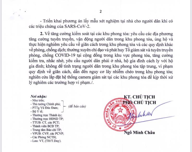 Công văn khẩn của TP.HCM do Phó chủ tịch Ngô Minh Châu ký ngày 15/7 chấn chỉnh các hoạt động phòng, chống Covid-19.